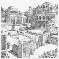 Anahita's Castle - Pen & ink. 2008
