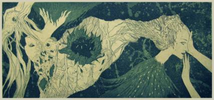 herrschaft und knechtschaft - Aquatint etching. 2015